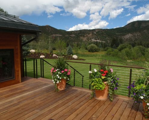 Deck build by Skywalker Construction Durango Colorado