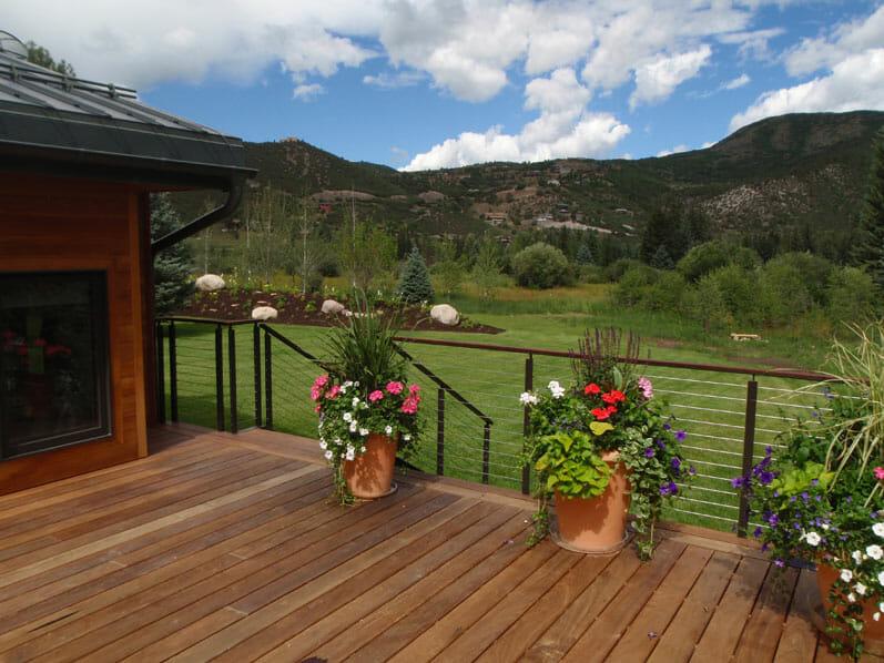 Deck build by Skywalker Construction Durango Colorado